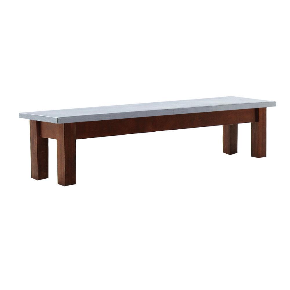 TABLE, GALV.TOP, MAHOGANY, 38WX10LX10-1/2H