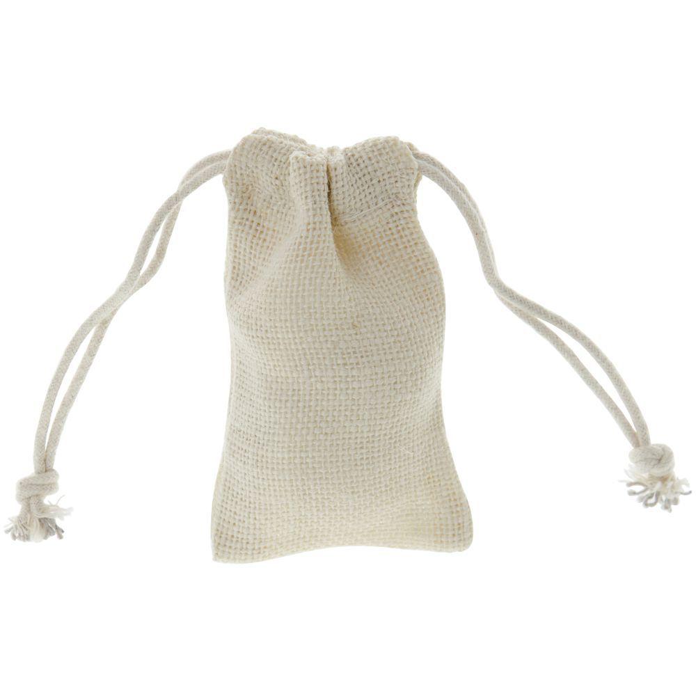Small White Burlap Pouches
