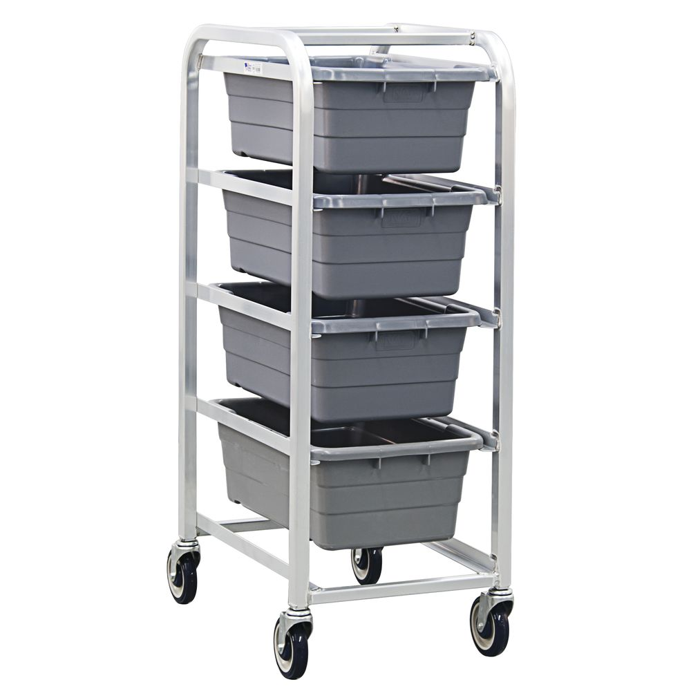 "NewAge Rolling Cart 4 Lug 27""L x 20""W x 51""H Aluminum NoHandle"