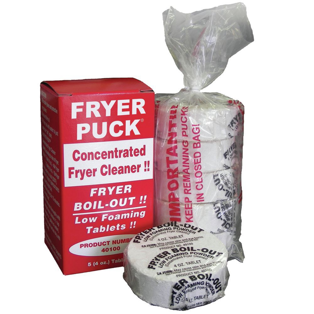 FRYER PUCK FRYER CLEANING TABLETS, 5/BX