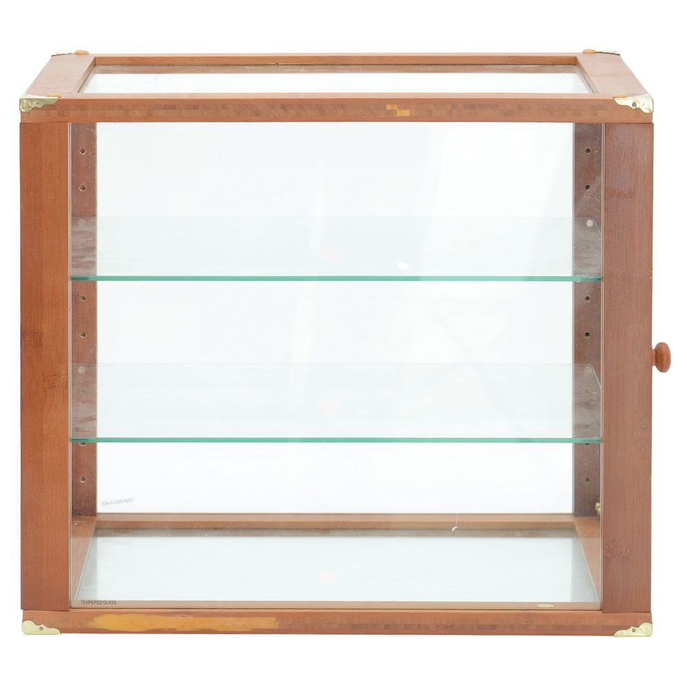Countertop Pastry Display Case Trimmed with Solid Wood - Oak Finish