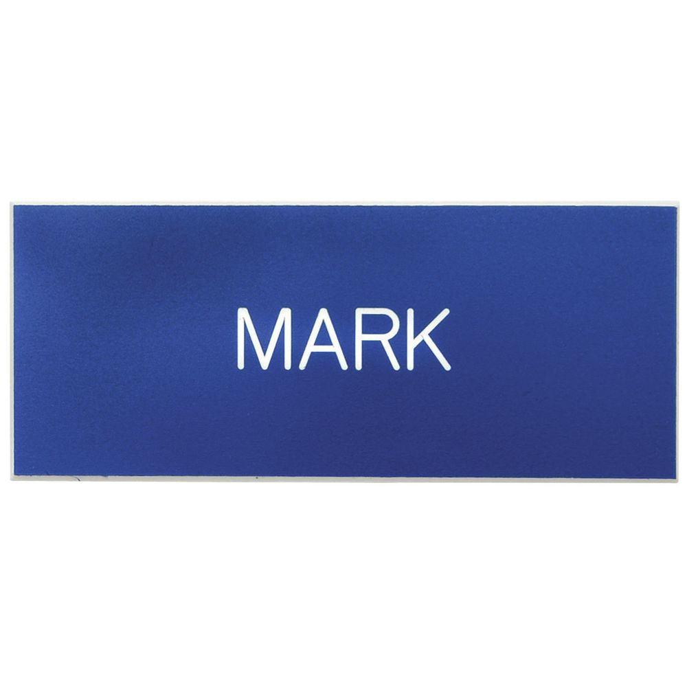 NAME BADGE, PIN-ON, 3 LINE, WHT/BLK