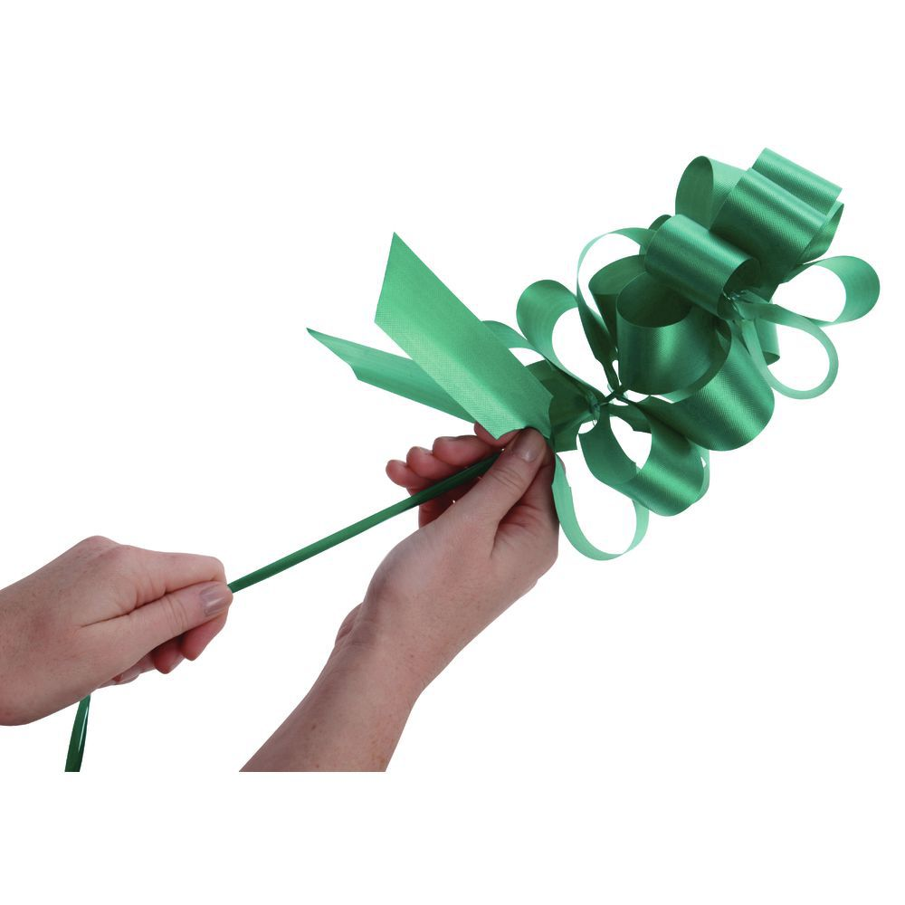 Emerald Flora-Satin Pull Bows