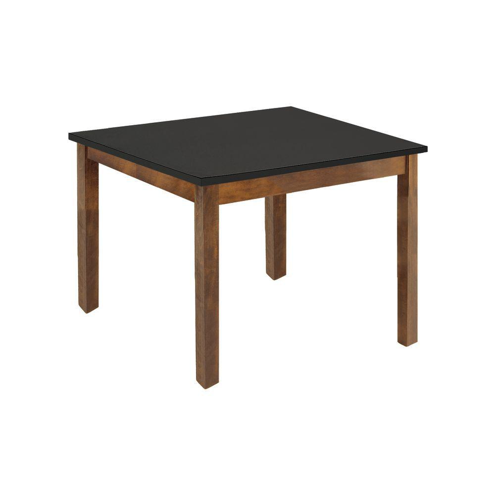"TABLE, OAK/BLACK TOP, 32""X26""X28"""