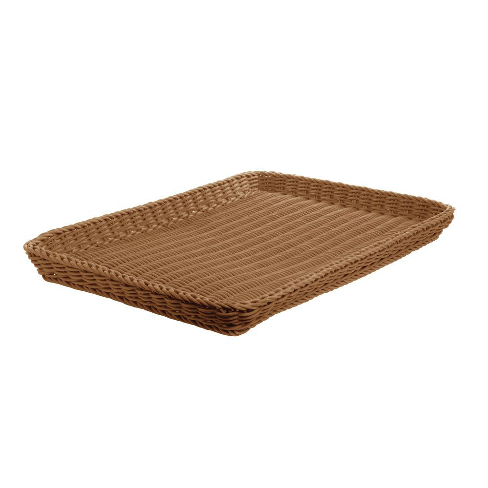 Beige Basket Tray for Baked Goods