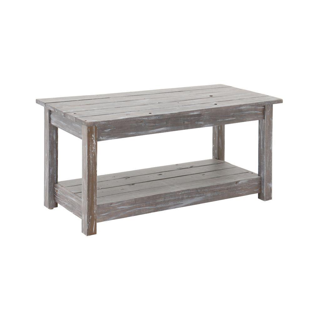 TABLE, DISPLAY, GRAY RUSTIC, MEDIUM