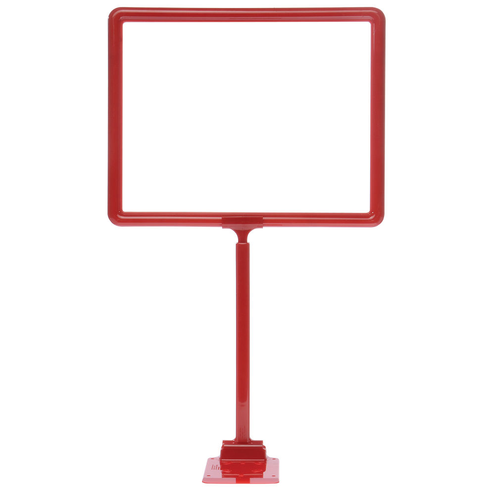 "14 x 11 Display Sign Stand, Red, Adjust 12""-22"""