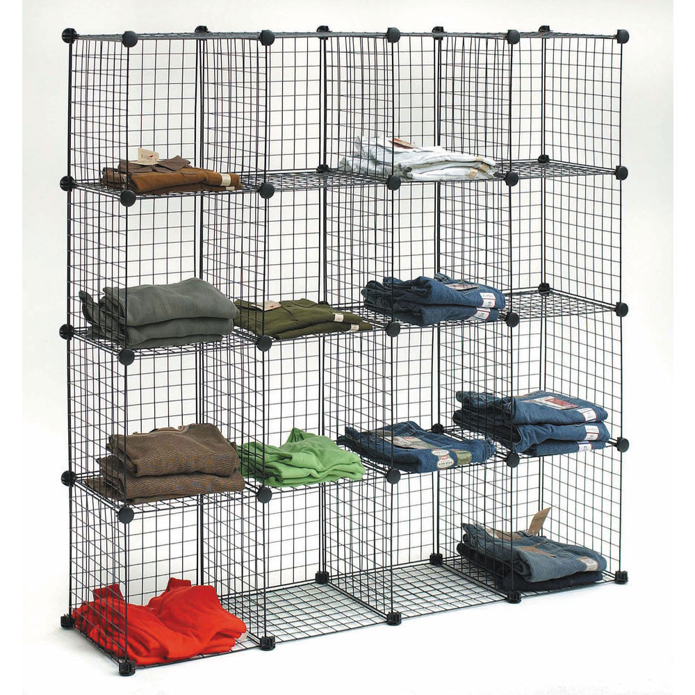 "CUBBY, GRID, 14""CUBES, 56 X 84 KIT, BLACK"