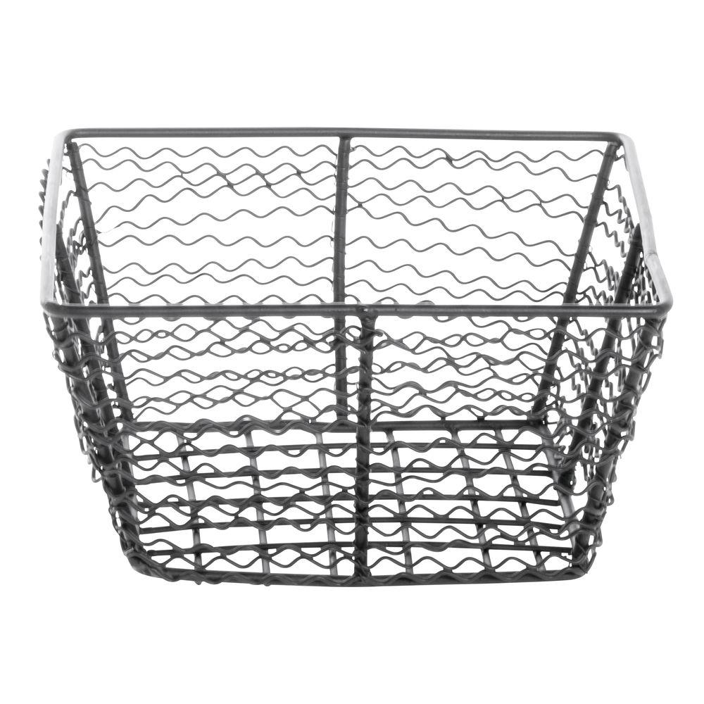 Expressly HUBERT® Corkscrew Tapered Wire Basket Black 8-1/4L x 8-1/4W x 3-15/16H