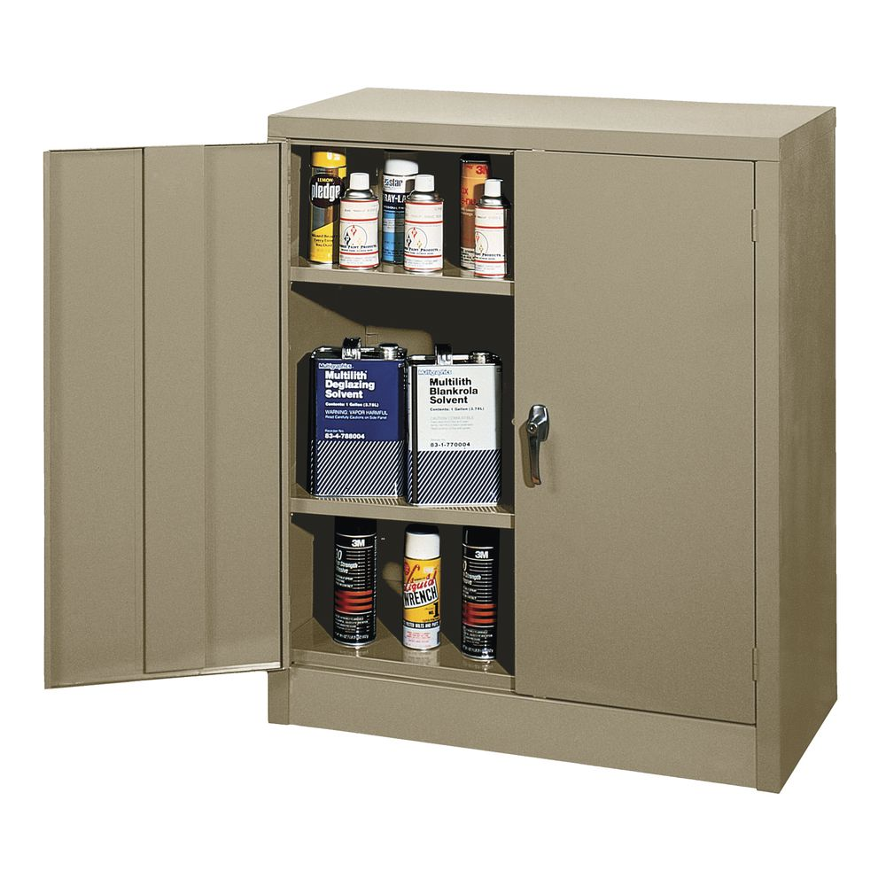 """CABINET, 36""""W COUNTER HEIGHT , TAN"""