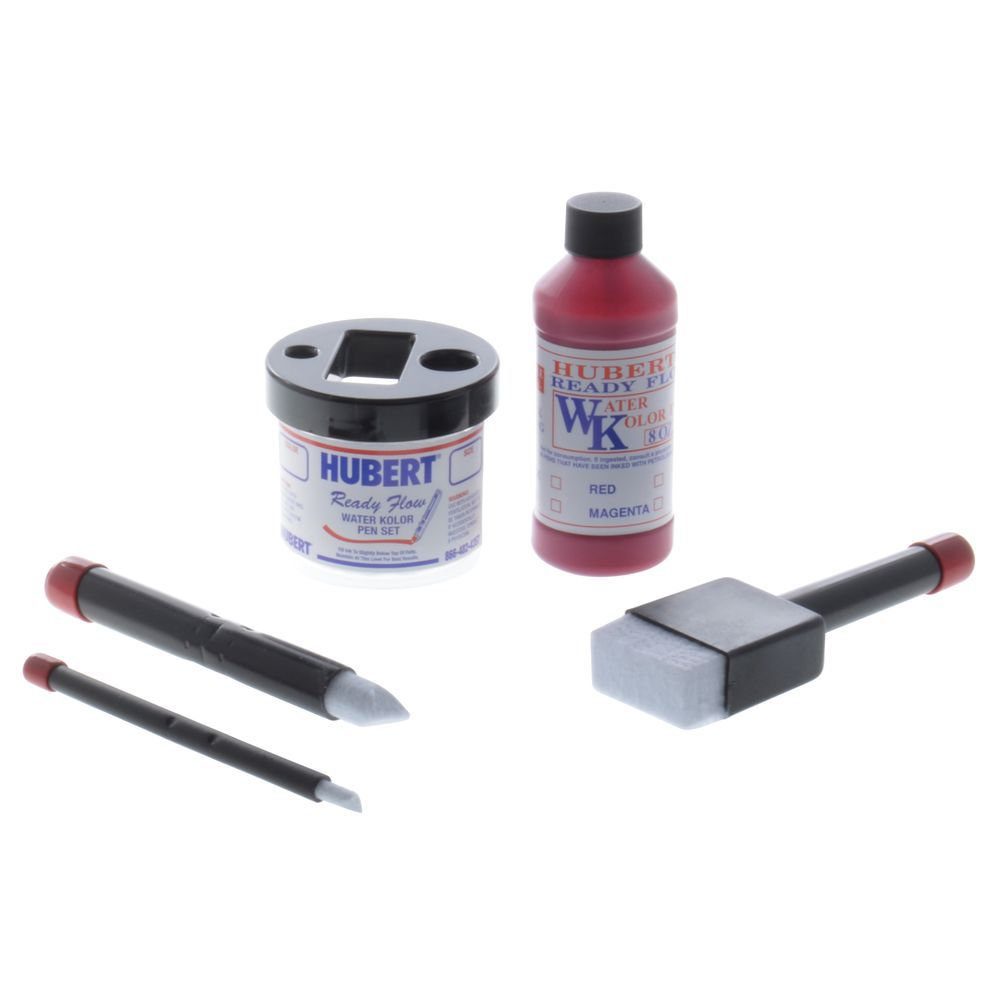 INK, R.F. 8-OZ., RED, WATER-BASED