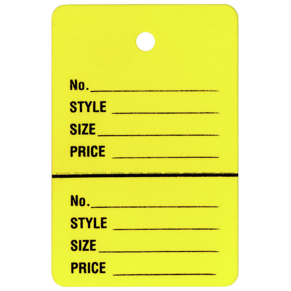 Yellow Inventory Tags, 1 1/4 x 1 7/8