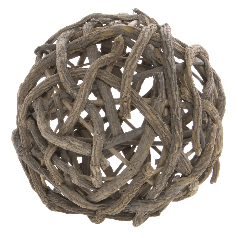 "BALL, VINE, WOOD, 12""DIA"