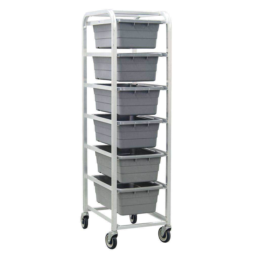 "NewAge Rolling Cart 6 Lug 27""L x 20""W x 71""H Aluminum No Handle"