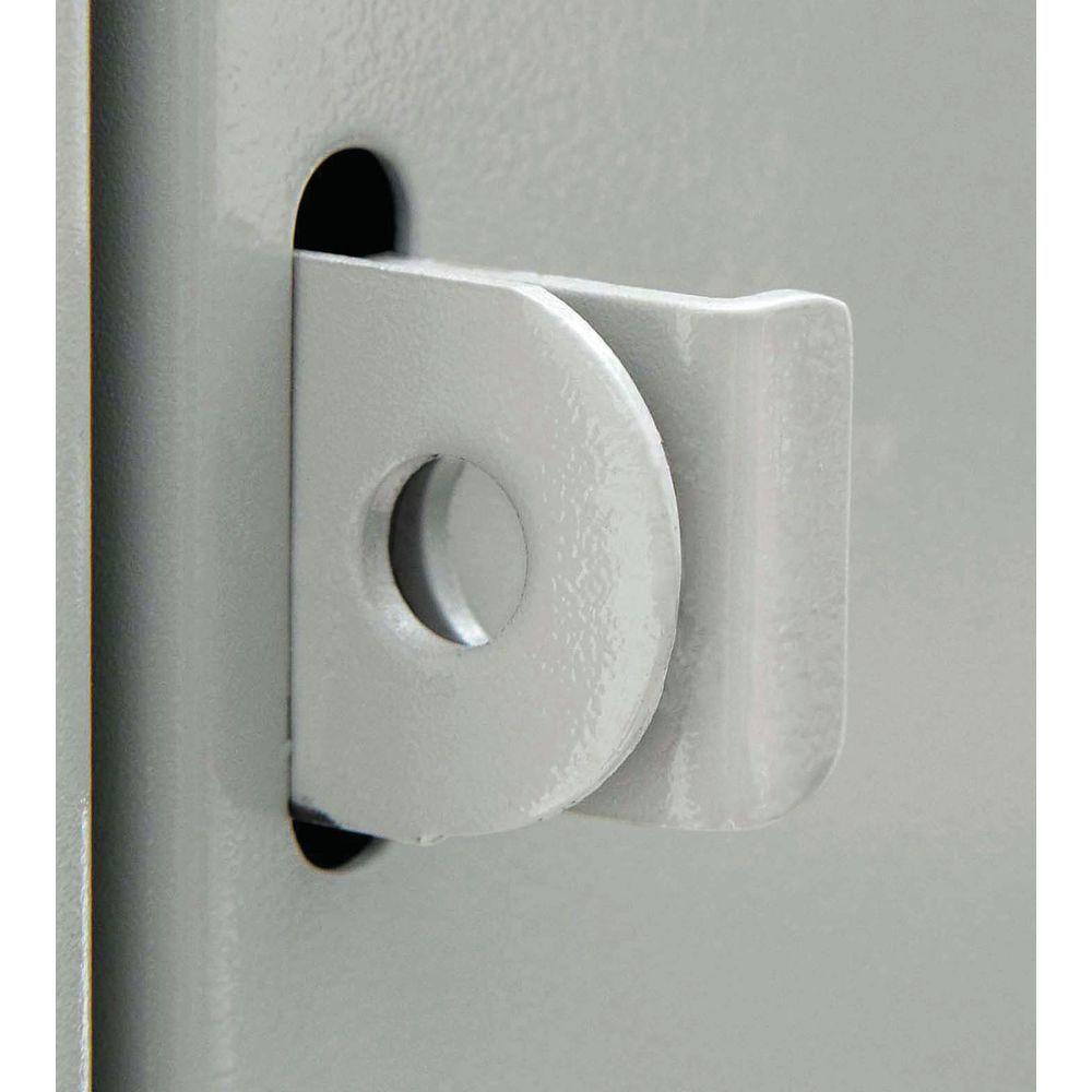 """6-Tier Louvered Metal Employee Lockers in Grey Steel 12""""L x 18""""W x 78""""H"""