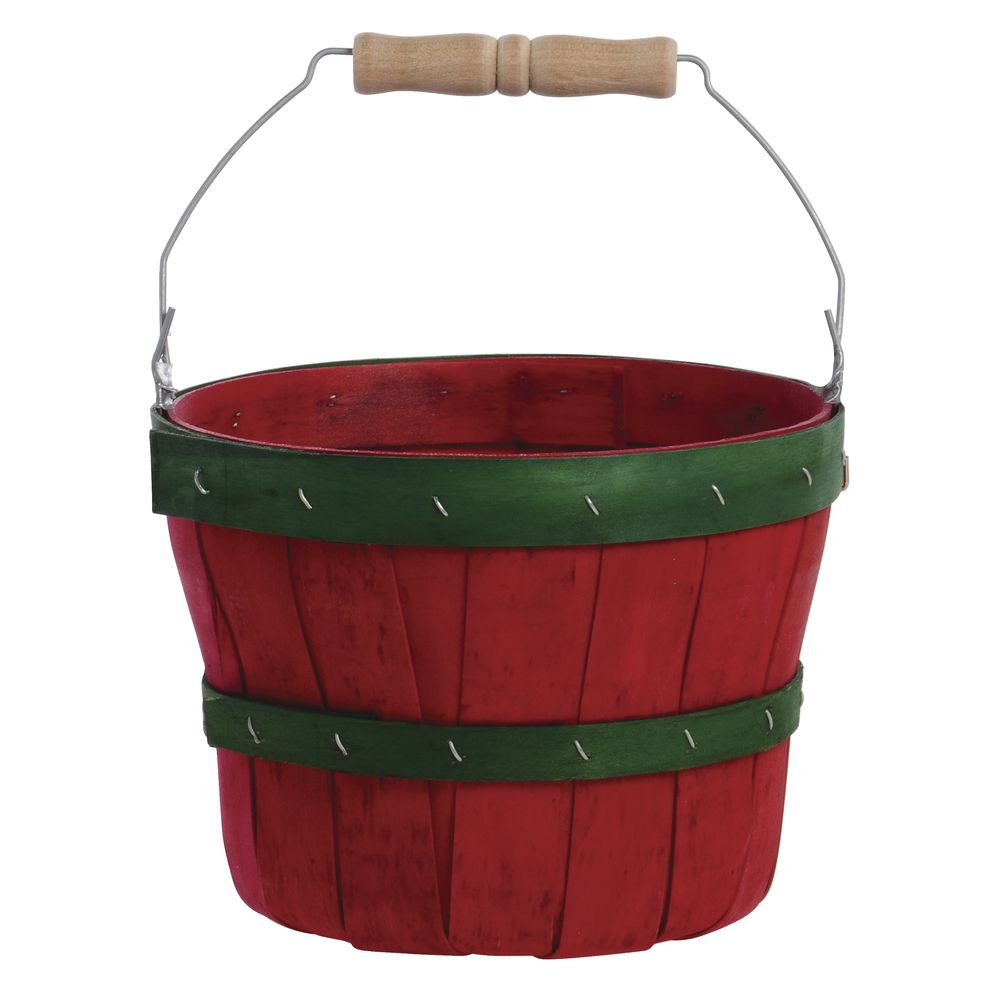 1/4 PECK BASKET, RED/GREEN