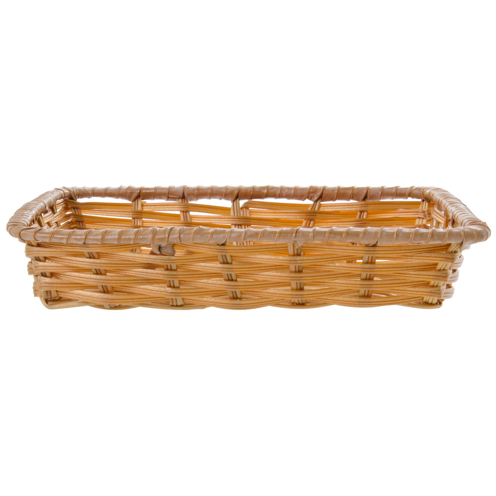 "Natural Tri-Cord Washable Wicker Display Basket 10""L x 12""W x 2 1/2""D"