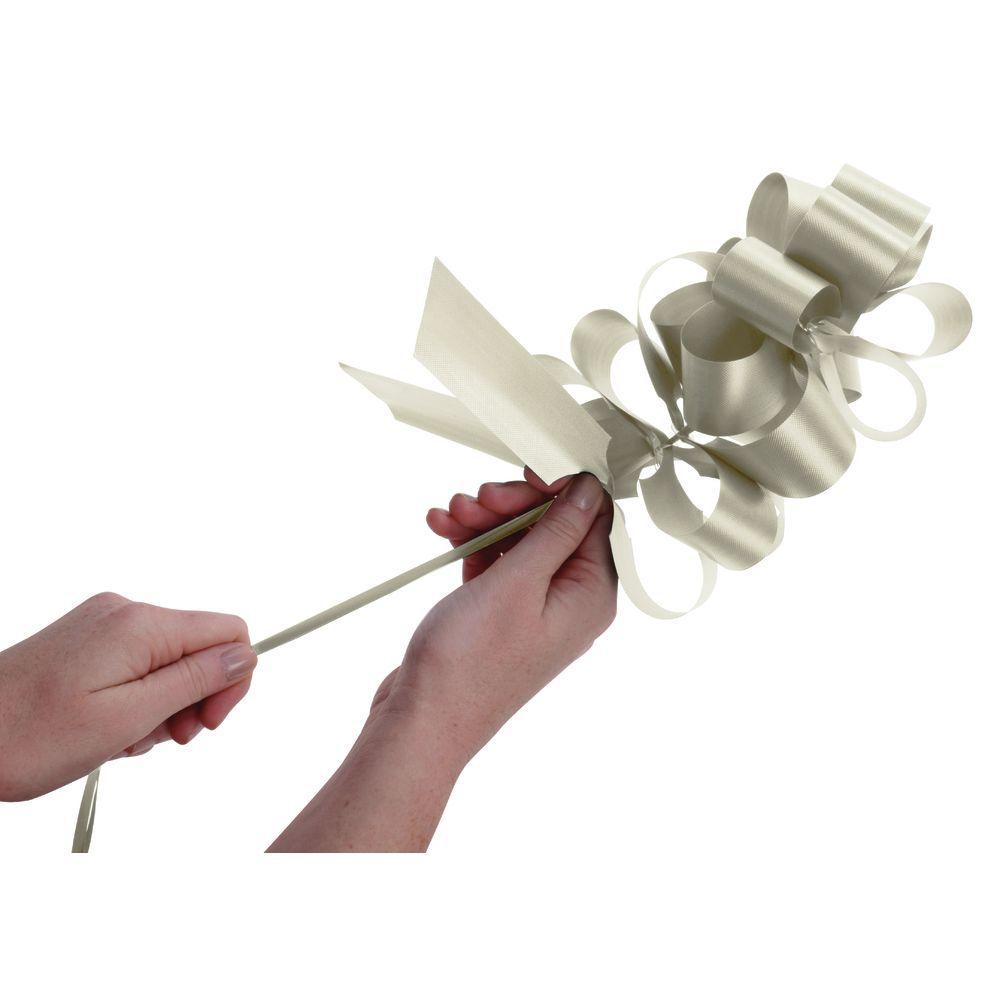 Eggshell Flora-Satin Pull Bows