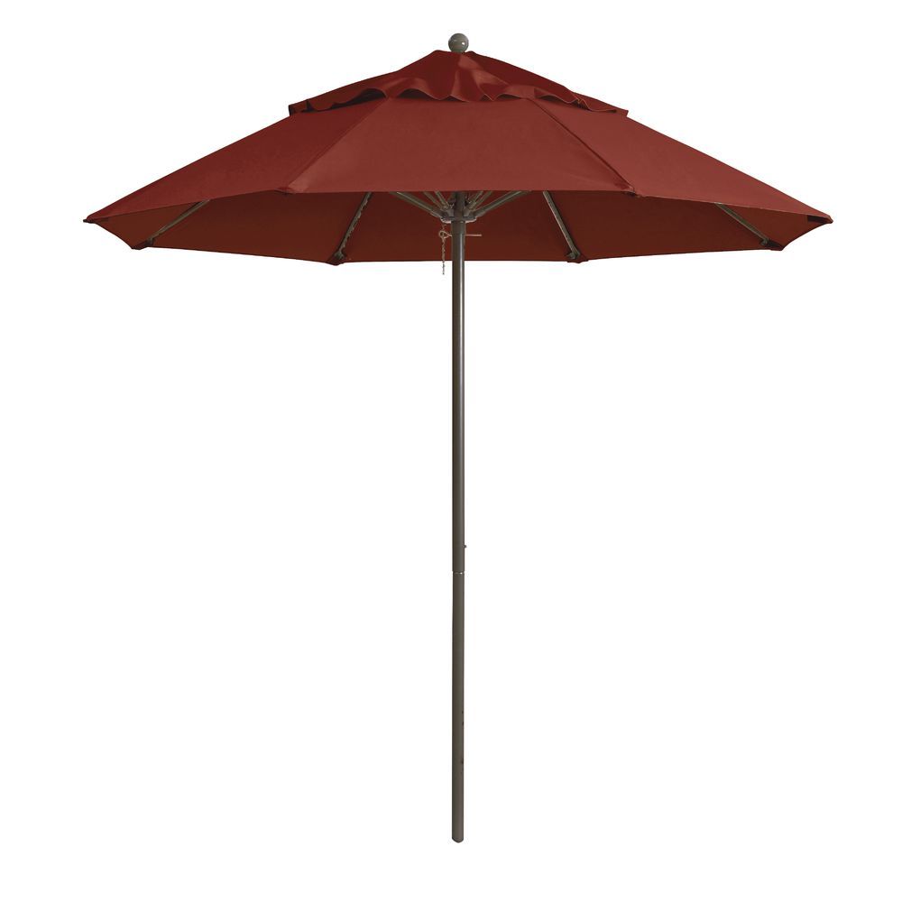 UMBRELLA, 9', ALUM POLE, TERRA COTTA
