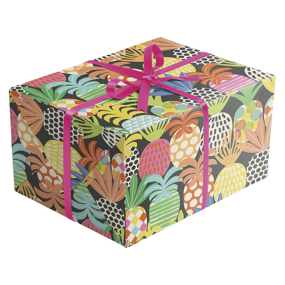 "GIFT WRAP, PINEAPPLE POP, FULL ROLL, 30""W"