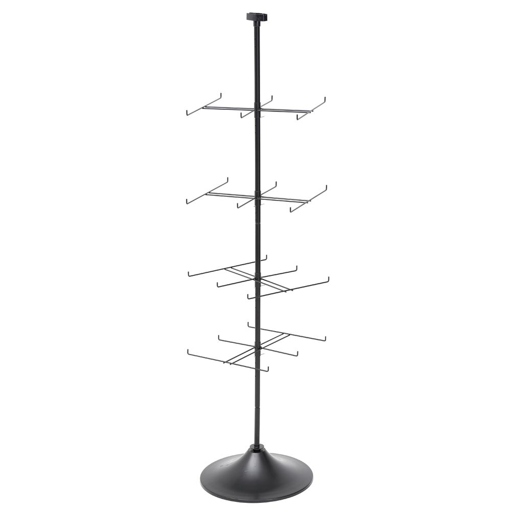 RACK, FLOOR, ROTATING, RECT TIER, 24HOOK
