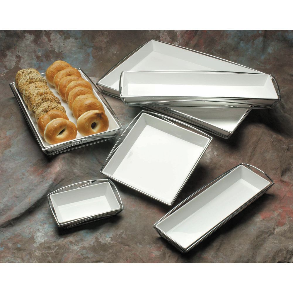 "TRAY, 24X18X2"", CHROME W/WHITE LINER"