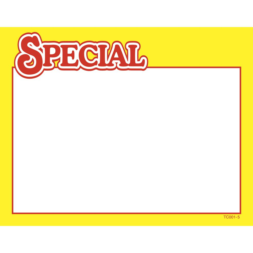 SIGN, WRITE-ON, SUNGOLD, SPECIAL, 7X5.5, GLOS
