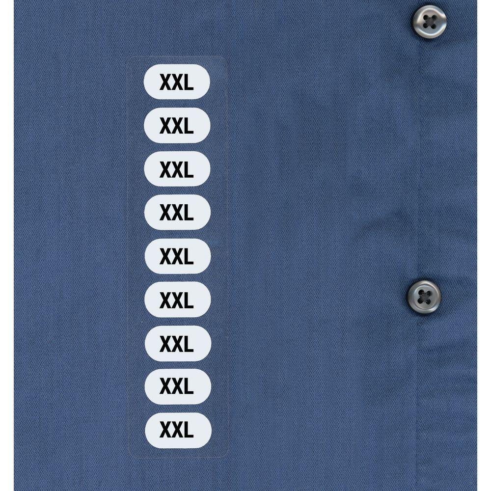 Unisex Clothes Size Labels XXL