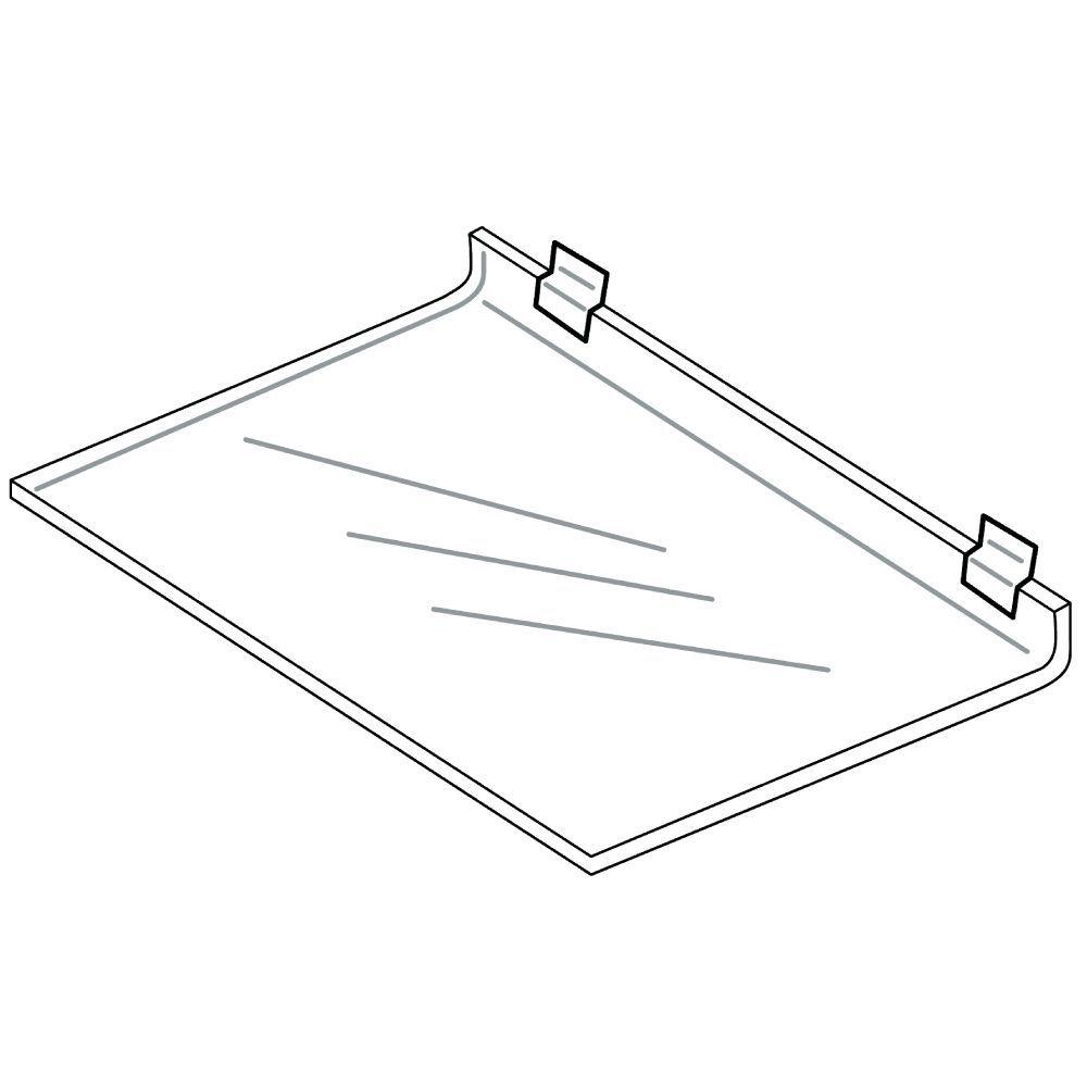 Acrylic Slatwall Display Shelves