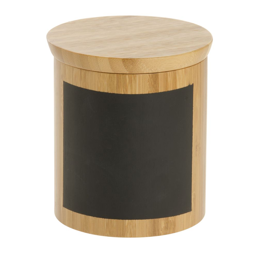 """Tablecraft Bamboo Canister 4 3/4""""Dia x 5 3/8""""H"""