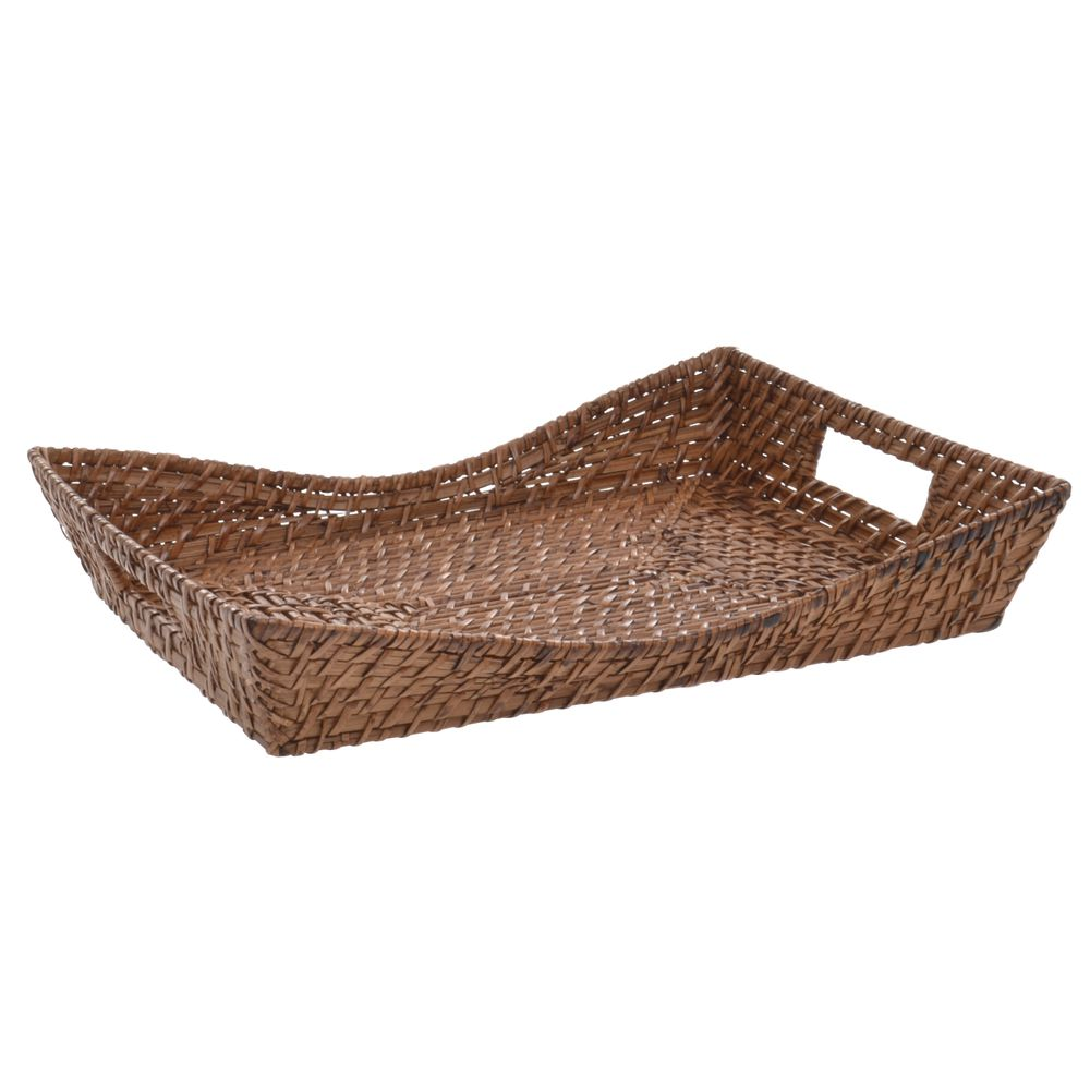 "Rattan Baskets Brown 15""L x 11 1/4""W x 2""H"