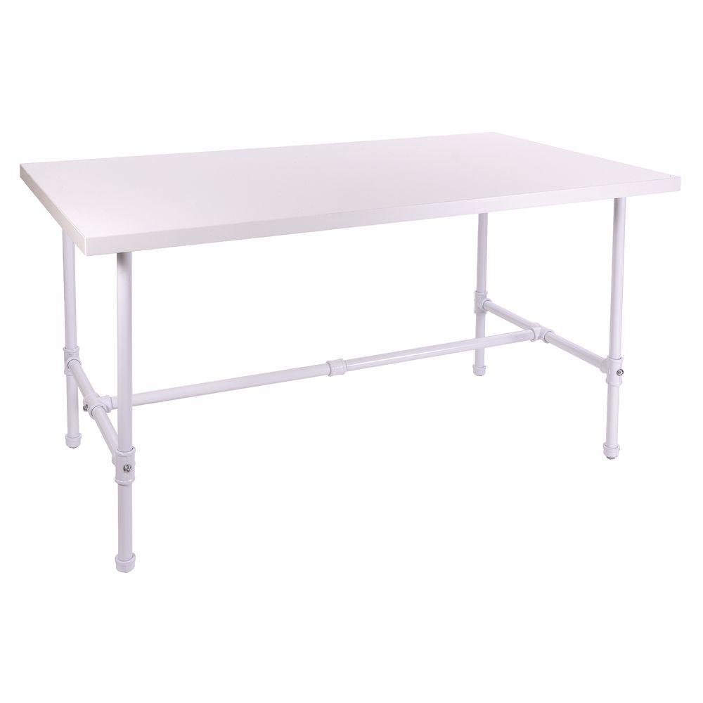 NESTING TABLE, PIPELINE, MTL/WOOD, WHITE, LG