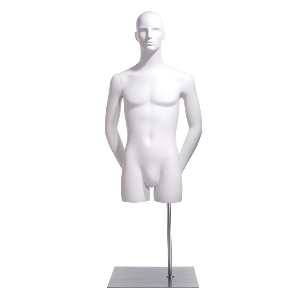 Hands behind Back Male Bust Form