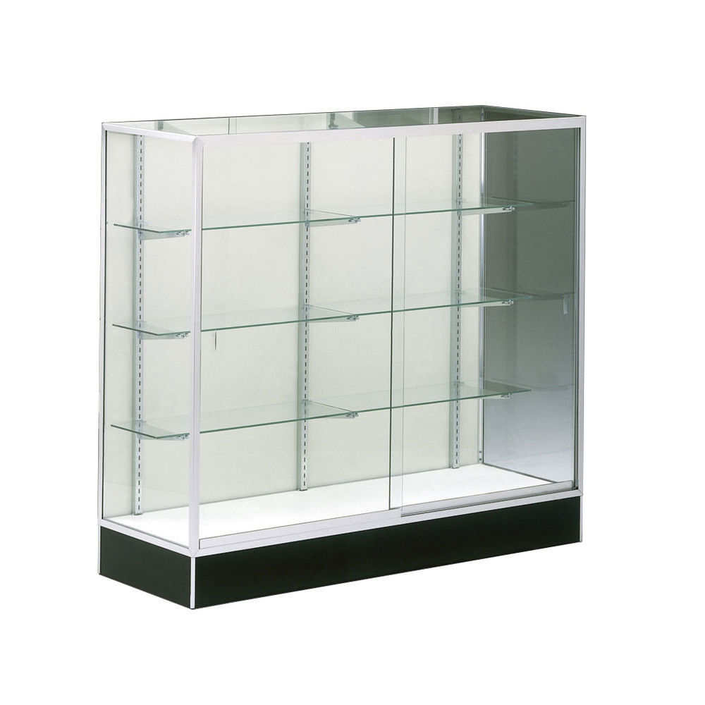 60 x 18 x 54 retail glass display cases hardboard. Black Bedroom Furniture Sets. Home Design Ideas