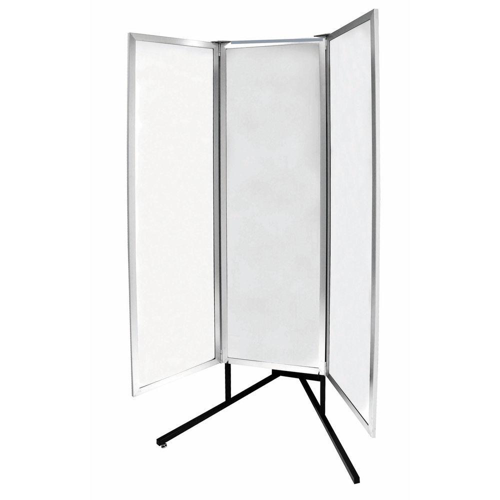 Black Finish Floor Mirror Stand