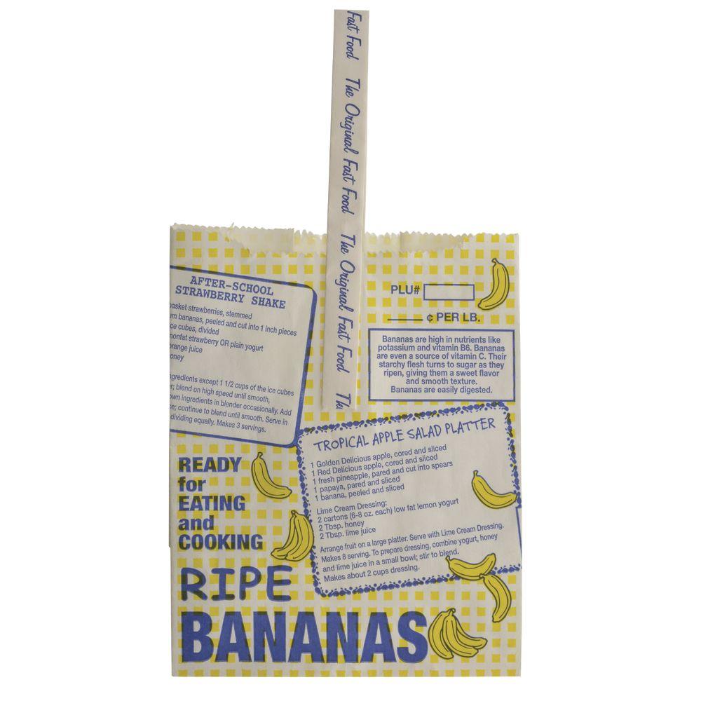 Preprinted White Paper Bag for Bananas