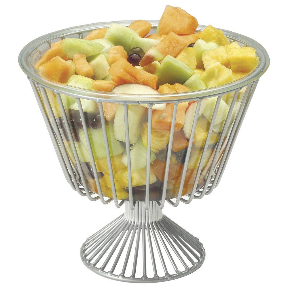 HUBERT Metal Fruit Basket 1-Tier Round Basket