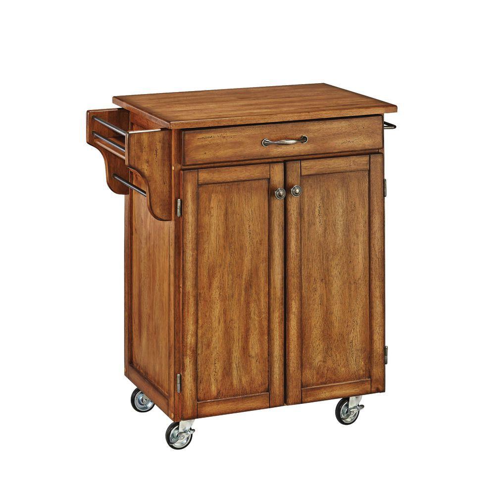"Serving Cart With Oak Base and Oak Top 32 1/2""L x 18 3/4""D x 36""H"