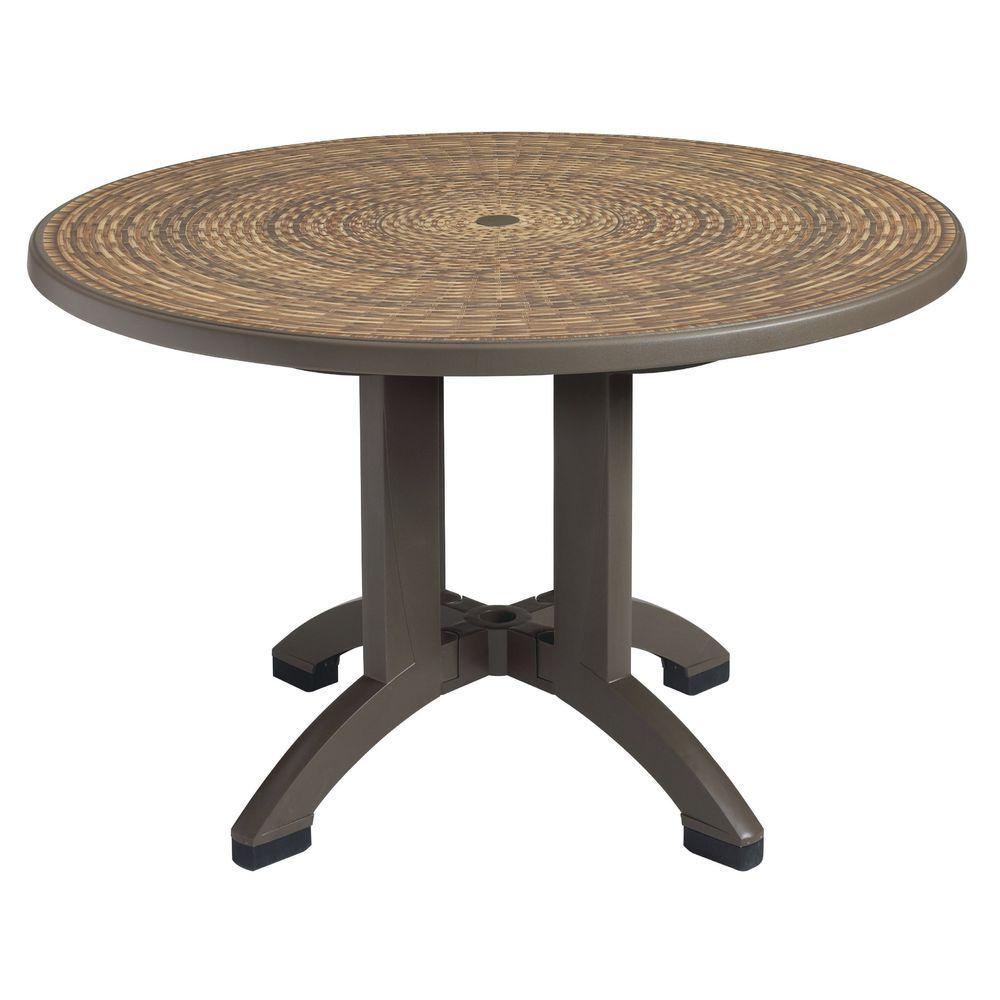 "TABLE, OUTDOOR, 48""RND, HAVANA"