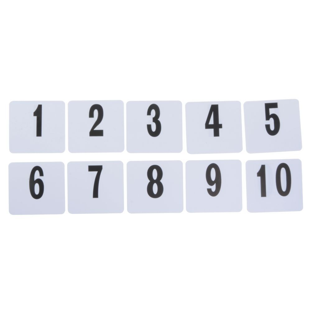 """Plastic Table Numbers Double-Sided Cards Set 101 - 150 4""""L x""""H"""