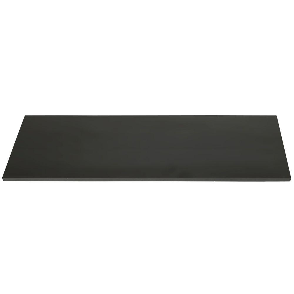 Black Melamine Shelves