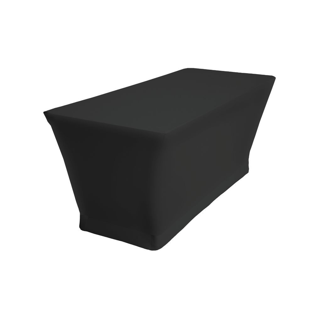 """Fitted Tablecloths Black Polyester A Gateleg 30""""H x 30""""W x 96""""L"""