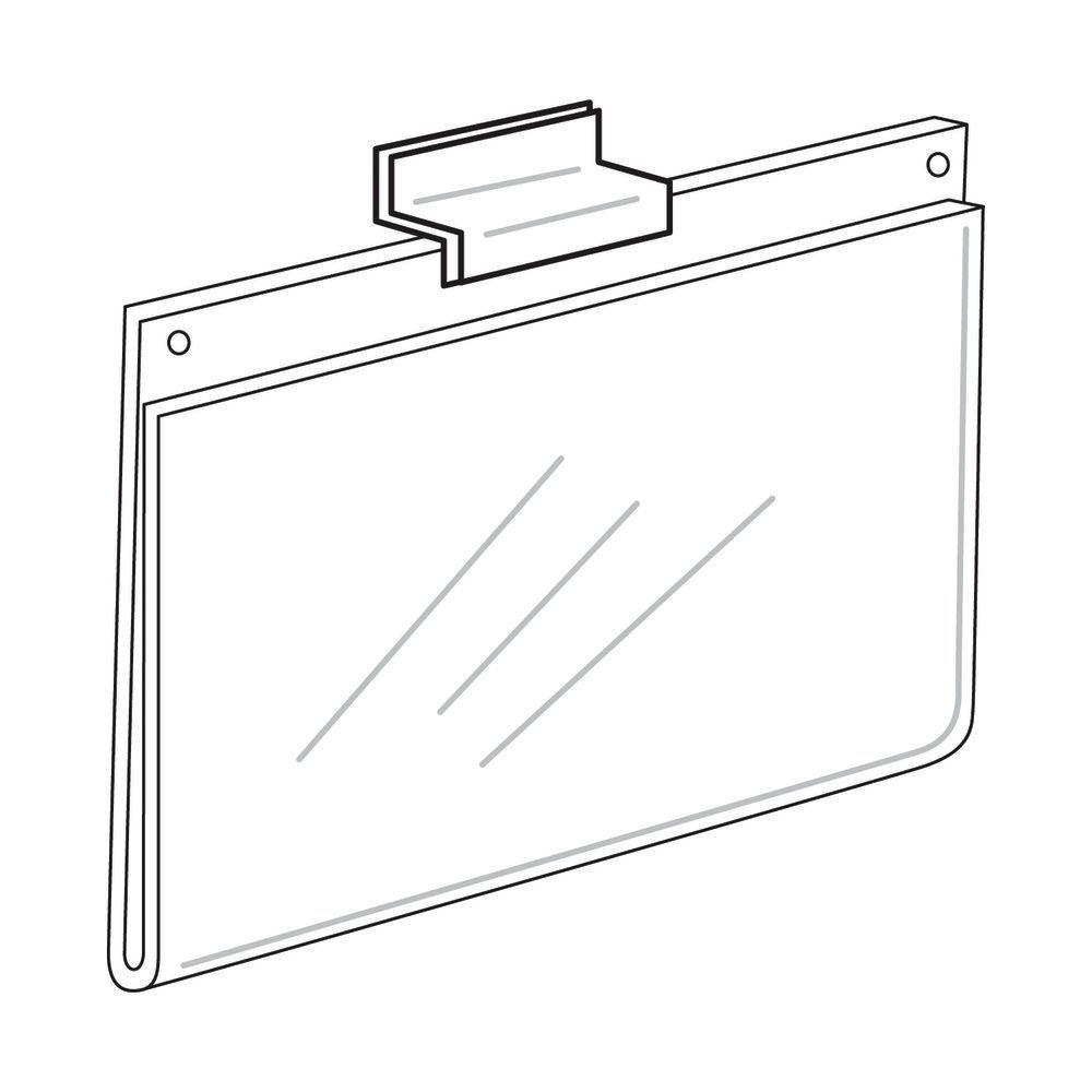 Horizontal Acrylic Sign Holder