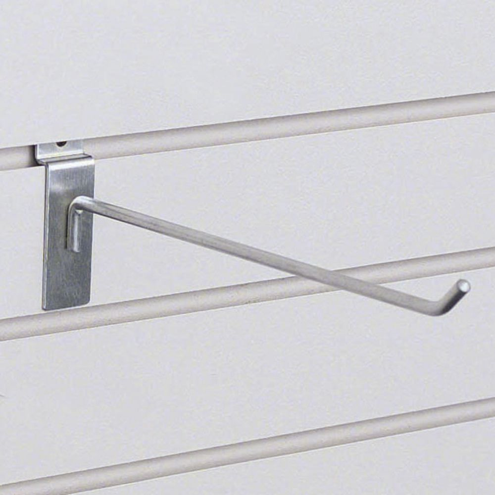 Satin Chrome Slatwall Hanger, 10""