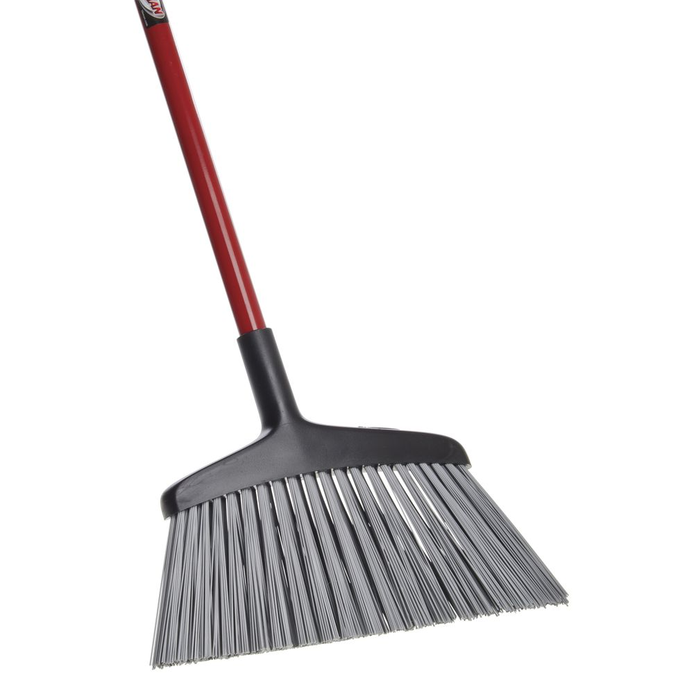 """Angle Broom for Rough Surfaces 15""""W Handle 55""""L"""