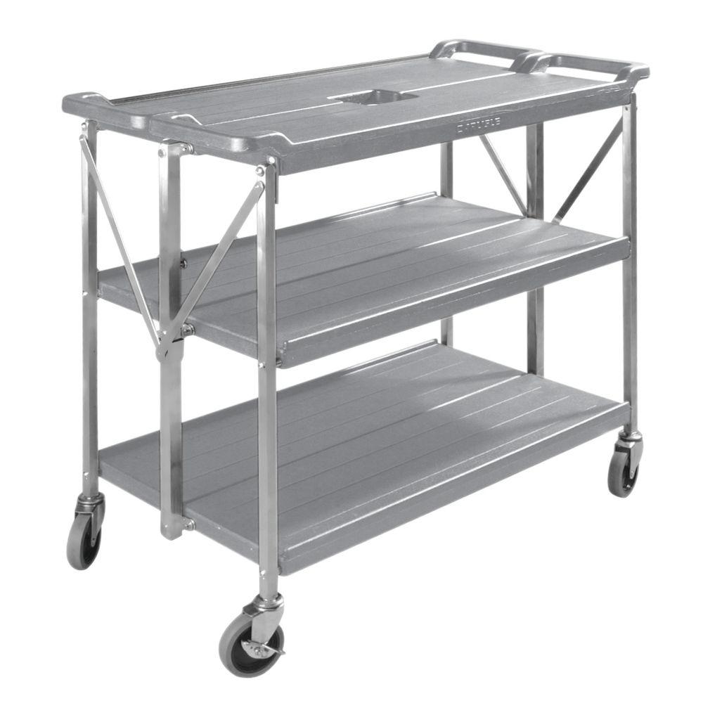 """Carlisle Folding Utility Cart 40""""L x 20 1/2""""W x 35 3/4""""H Gray"""