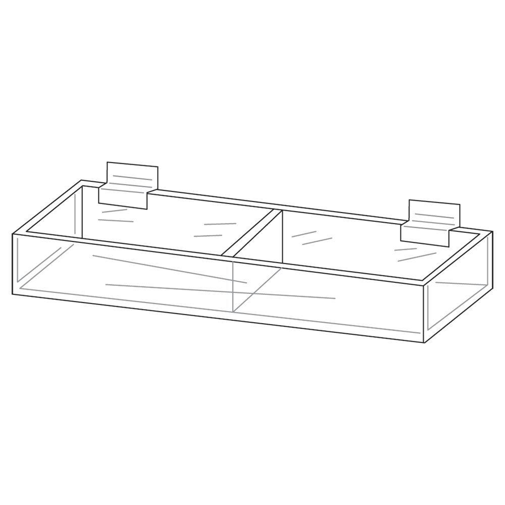 Double Acrylic Display for Slatwall