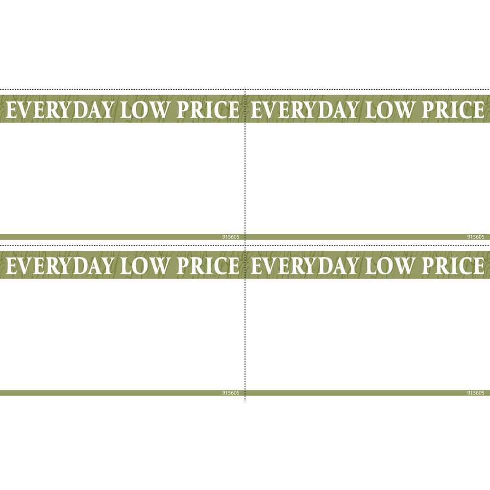 """""""Everyday Low Prices"""" Discount Sign, 5 1/2 x 3 1/2"""