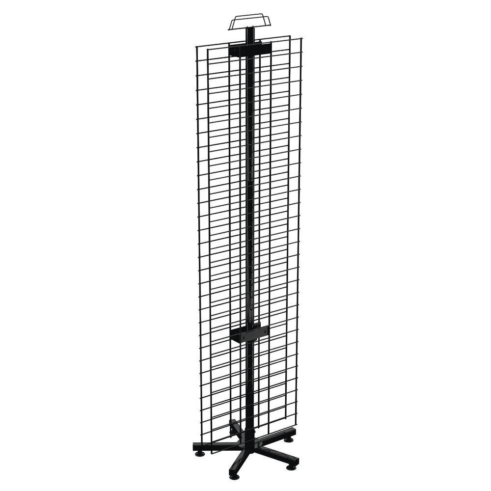 RACK, SPINNER, FLOOR, 2SIDED, WIRE, BLACK, 67""
