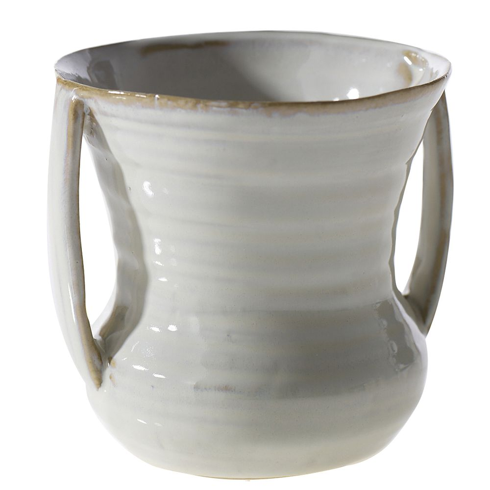 POT, CERAMIC HANDLED, ZARA, 5.25X4.75X4.75